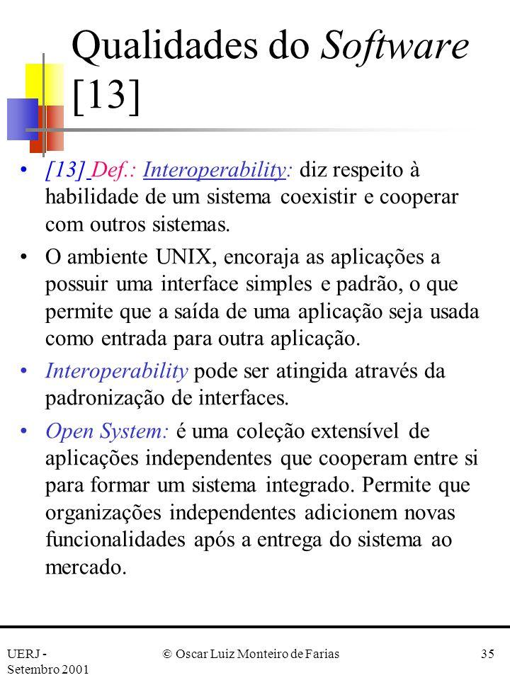 Qualidades do Software [13]